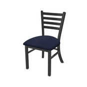 """400 Jackie 18"""" Chair with Pewter Finish and Graph Anchor Seat"""