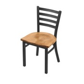 "400 Jackie 18"" Chair with Pewter Finish and Medium Maple Seat"