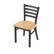 """400 Jackie 18"""" Chair with Pewter Finish and Natural Oak Seat"""