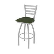 410 Jackie Swivel Stool with Anodized Nickel Finish and Canter Pine Seat