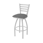 410 Jackie Swivel Stool with Anodized Nickel Finish and Graph Coal Seat