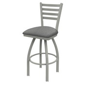 410 Jackie Swivel Stool with Anodized Nickel Finish and Graph Alpine Seat