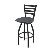 "410 Jackie 36"" Swivel Bar Stool with Black Wrinkle Finish and Canter Storm Seat"