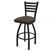 "410 Jackie 36"" Swivel Bar Stool with Black Wrinkle Finish and Canter Earth Seat"