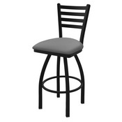 """410 Jackie 36"""" Swivel Bar Stool with Black Wrinkle Finish and Canter Folkstone Grey Seat"""