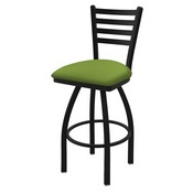 "410 Jackie 36"" Swivel Bar Stool with Black Wrinkle Finish and Canter Kiwi Green Seat"
