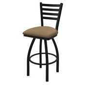 "410 Jackie 36"" Swivel Bar Stool with Black Wrinkle Finish and Canter Sand Seat"