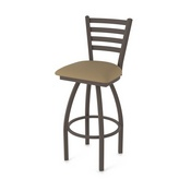410 Jackie Swivel Stool with Bronze Finish and Canter Thatch Seat