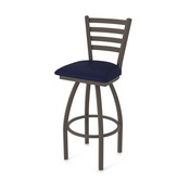 410 Jackie Swivel Stool with Bronze Finish and Canter Twilight Seat