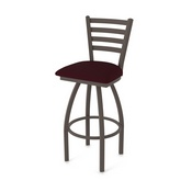 410 Jackie Swivel Stool with Bronze Finish and Canter Bordeaux Seat