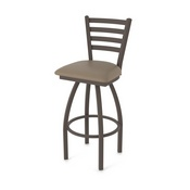 410 Jackie Swivel Stool with Bronze Finish and Canter Earth Seat