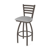 410 Jackie Swivel Stool with Bronze Finish and Canter Folkstone Grey Seat