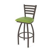 410 Jackie Swivel Stool with Bronze Finish and Canter Kiwi Green Seat