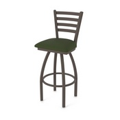410 Jackie Swivel Stool with Bronze Finish and Canter Pine Seat
