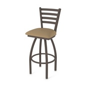 410 Jackie Swivel Stool with Bronze Finish and Canter Sand Seat