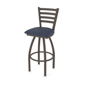 410 Jackie Swivel Stool with Bronze Finish and Graph Anchor Seat