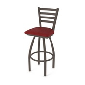 410 Jackie Swivel Stool with Bronze Finish and Graph Ruby Seat