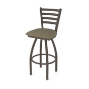 410 Jackie Swivel Stool with Bronze Finish and Graph Cork Seat