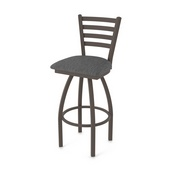410 Jackie Swivel Stool with Bronze Finish and Graph Coal Seat