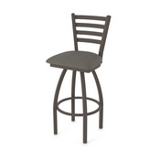 410 Jackie Swivel Stool with Bronze Finish and Graph Chalice Seat