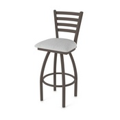 410 Jackie Swivel Stool with Bronze Finish and Graph Alpine Seat