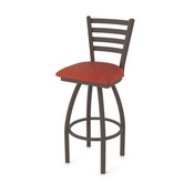 410 Jackie Swivel Stool with Bronze Finish and Graph Poppy Seat