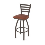 410 Jackie Swivel Stool with Bronze Finish and Rein Adobe Seat