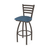 410 Jackie Swivel Stool with Bronze Finish and Rein Bay Seat
