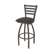 410 Jackie Swivel Stool with Bronze Finish and Rein Coffee Seat