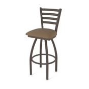 410 Jackie Swivel Stool with Bronze Finish and Rein Thatch Seat