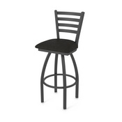 410 Jackie Swivel Stool with Pewter Finish and Canter Espresso Seat