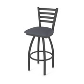 410 Jackie Swivel Stool with Pewter Finish and Canter Storm Seat