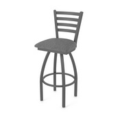 410 Jackie Swivel Stool with Pewter Finish and Graph Coal Seat