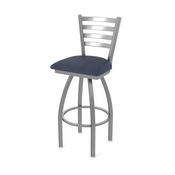 410 Jackie Swivel Stool with Stainless Finish and Graph Anchor Seat