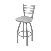 410 Jackie Swivel Stool with Stainless Finish and Graph Alpine Seat