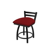 411 Jackie Low Back Swivel Stool with Black Wrinkle Finish and Graph Ruby Seat