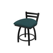 411 Jackie Low Back Swivel Stool with Black Wrinkle Finish and Graph Tidal Seat