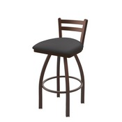 411 Jackie Low Back Swivel Stool with Bronze Finish and Canter Storm Seat
