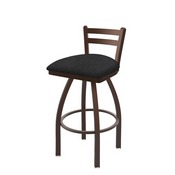 411 Jackie Low Back Swivel Stool with Bronze Finish and Graph Anchor Seat