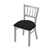 "610 Contessa 18"" Chair with Anodized Nickel Finish and Canter Espresso Seat"