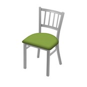 """610 Contessa 18"""" Chair with Anodized Nickel Finish and Canter Kiwi Green Seat"""