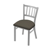 """610 Contessa 18"""" Chair with Anodized Nickel Finish and Graph Chalice Seat"""