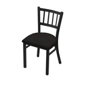 "610 Contessa 18"" Chair with Black Wrinkle Finish and Canter Espresso Seat"