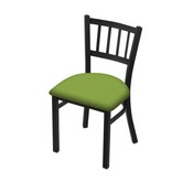 "610 Contessa 18"" Chair with Black Wrinkle Finish and Canter Kiwi Green Seat"