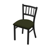 "610 Contessa 18"" Chair with Black Wrinkle Finish and Canter Pine Seat"