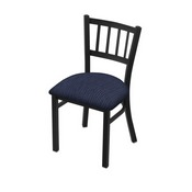 "610 Contessa 18"" Chair with Black Wrinkle Finish and Graph Anchor Seat"