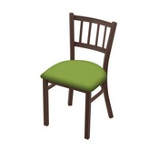 "610 Contessa 18"" Chair with Bronze Finish and Canter Kiwi Green Seat"