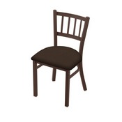 "610 Contessa 18"" Chair with Bronze Finish and Rein Coffee Seat"