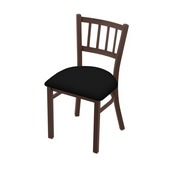 """610 Contessa 18"""" Chair with Bronze Finish and Black Vinyl Seat"""