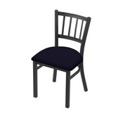 """610 Contessa 18"""" Chair with Pewter Finish and Canter Twilight Seat"""